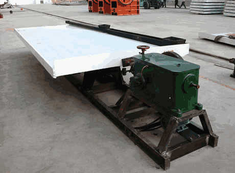 Approved Tin Shaking Table Concentrator